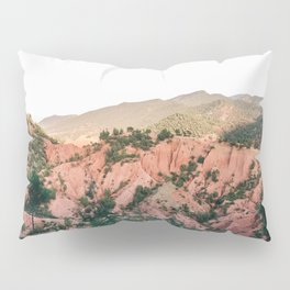 Orange mountains of Ourika Morocco | Atlas Mountains near Marrakech Pillow Sham