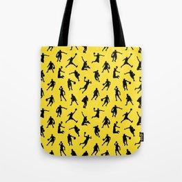 Basketball Players // Lemon Tote Bag