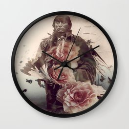 Flowers Will Bloom, Ravens Will Fly Wall Clock