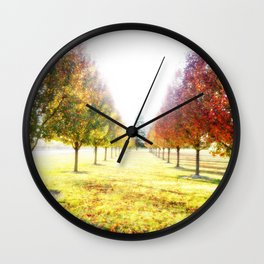 Autumn Fall Trees : Center of Attention Wall Clock