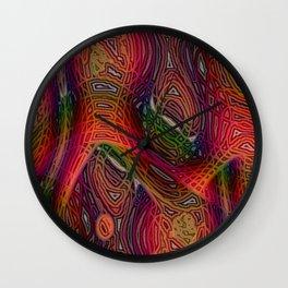 Wet Paint III Wall Clock