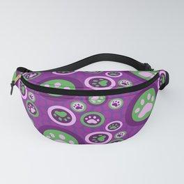 Purple Dog Lovers Pattern Fanny Pack