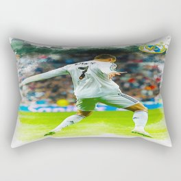 Cristiano Ronaldo celebrates after scoring Rectangular Pillow