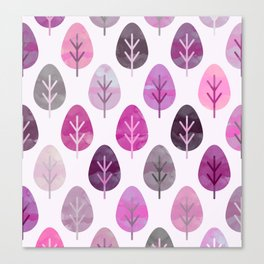 Watercolor Forest Pattern #3 Canvas Print