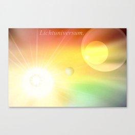 Lichtuniversum. Canvas Print