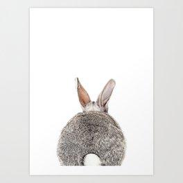 Bunny Butt Art Print