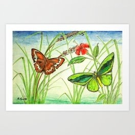 Two's Company Art Print