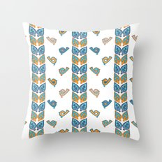Leaves & Birds Pattern Throw Pillow