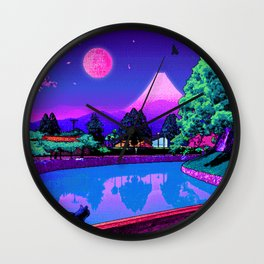 Under Moon Wall Clock