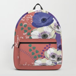 Anemones collection: bouquet II Backpack