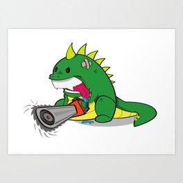 Bossasaurus Rex Art Print