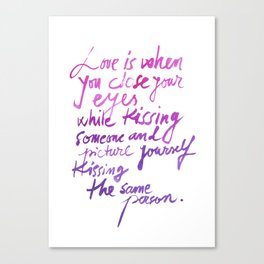 Love quotes Canvas Print