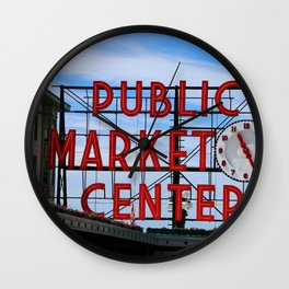 Pike Place Market Wall Clock