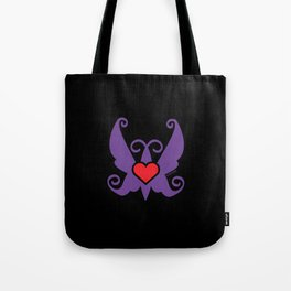 FREE TO FLY - purple on black Tote Bag