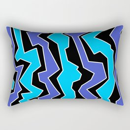 Vertical Blues Polynoise Rectangular Pillow