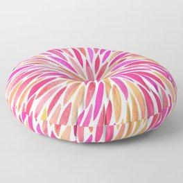 Watercolor Burst – Pink Ombré Floor Pillow