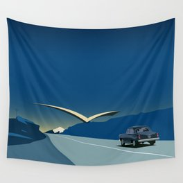 """Soviet Modernism: """"Seagull"""" road mark at the northern entry of Yerevan Wall Tapestry"""