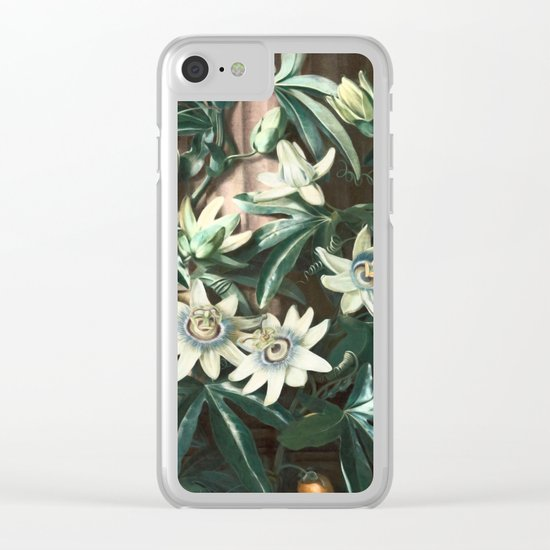 Passion for Passiflora Clear iPhone Case