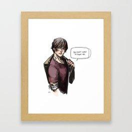 hurt!sam (supernatural) Framed Art Print