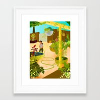 nursery Framed Art Prints featuring The Nursery by Monique Gabrielle