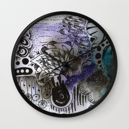 Calms appear when storms are past; Wall Clock