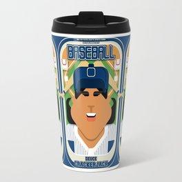 Baseball Blue Pinstripes - Deuce Crackerjack - Indie version Travel Mug
