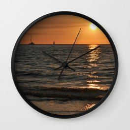 SUMMER SUNSET feeling - Baltic Sea Wall Clock