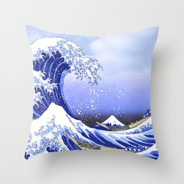 Surf's Up! The Great Wave Throw Pillow