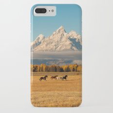 Horses Running in Grand Teton iPhone 7 Plus Slim Case