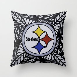 Steelers Poly Style Throw Pillow