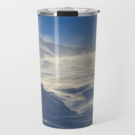 """""""Brave mountains"""". Into the windy storm Travel Mug"""