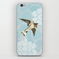 swallow iPhone & iPod Skins featuring Swallow by Lorri Leigh Art