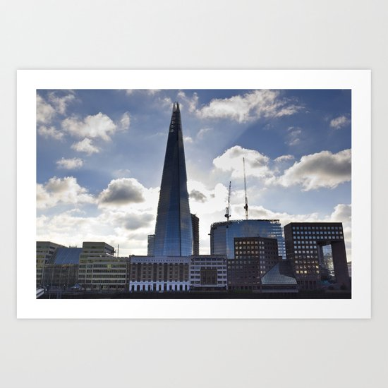 The Shard and South Bank Art Print