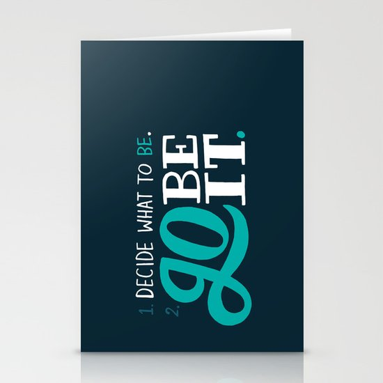Go Be It. Stationery Cards