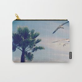 Palm Tree and Seagulls by the sea Carry-All Pouch