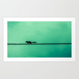 Squirrel on High Art Print
