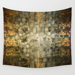 """Abstract golden river pebbles"" Wall Tapestry"