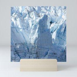 Alaska's Glacier Bay With Massive Blue Ice 'Mountains' Mini Art Print