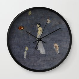 Lingering in the ups and downs of the sound. Wall Clock