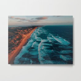 Portsea Surf Beach Metal Print