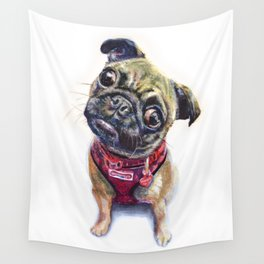 Frankie the Pug #114 Wall Tapestry