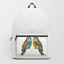 Facing owls Backpack