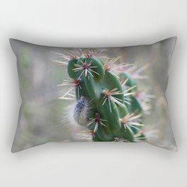Fuzzy Caterpillar on Cactus 2 Rectangular Pillow