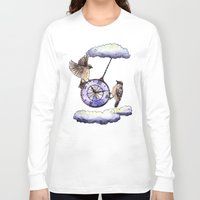 clock Long Sleeve T-shirts featuring Clock by Anna Shell