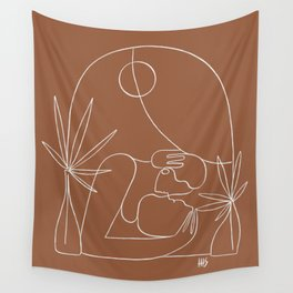 Dreamers no.4 (terracotta) Wall Tapestry