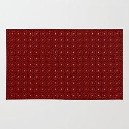 Muster - rote Blumen Rug