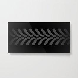Black Tyre Marks Metal Print