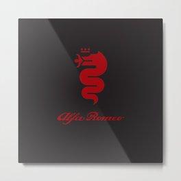 Alfa Romeo Biscione red Metal Print