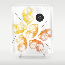 snail shell color Shower Curtain