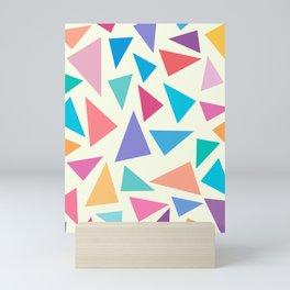 Colorful geometric pattern II Mini Art Print